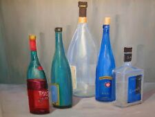 IMPRESSIONIST WINE BOTTLE OIL PAINTING CONTEMPORARY MODERN WALL ART BAR DECOR