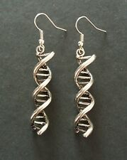 Double Helix Science DNA Charm Dangle Earrings - 40mm - New - UK Seller