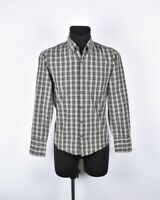 Hugo Boss Naranja Label Hombre Camisa TALLA S