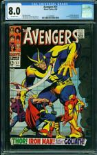 AVENGERS 51 CGC 8.0 OFF WHITE PAGES  HIGH GLOSS GOLIATH THOR A9