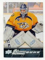 2015-16 Upper Deck JUSSE SAROS Rookie Card RC ACETATE CLEAR Young Guns SSP #464