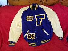 SKOOKUM LETTERMAN JACKET FIFE HIGH SCHOOL WOOL AND LEATHER SZ. 44 USA UNISEX