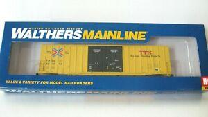 Walthers Ho Mainline 60' Gunderson Hi-Cube Boxcar#910-2972 TTX/TBOX Red TTX NIB