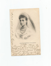 More details for postcard russian royalty czarina alexandra vintage with stamps