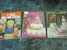 THREE WILTON CAKE & FOOD DECORATING BOOKS YEARBOOKS TIPS HOW TO