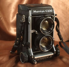 Mamiya C330S 6x6 120 Film Camera 80mm Blue Dot Lens + Strap + Cap