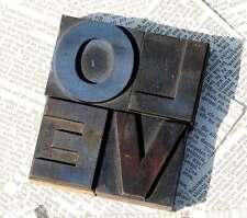 """""""LOVE"""" Holzbuchstaben Drucklettern Lettern Vintage shabby style letterpress wood"""
