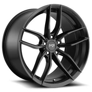 """Niche M203 Vosso 20x10.5 5x115 +20mm Matte Black Wheel Rim 20"""" Inch"""