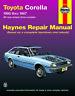 Toyota Corolla RWD 1980-1987 Repair Manual