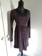 Mama Licious Maternity Dress Size L Jersey LS Round Neck Smart/Comfortable