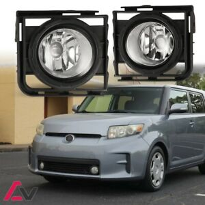 11-15 For Scion xB Clear Lens Pair Bumper OE Fog Light Lamp+Wiring+Switch Kit