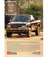 1994 GMC SONOMA Black Pickup Truck Dirty Vtg Print Ad