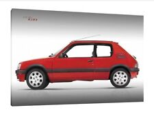 Peugeot 205 1.9 Gti - 30x20 Inch Canvas - Framed Picture Print