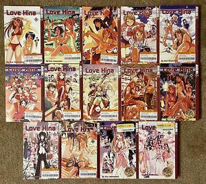 Love Hina Complete Set Lot 1-14 English Manga Ken Akamatsu Tokyopop