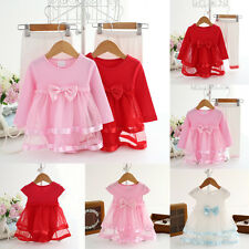 Infant Baby Girl Newborn Princess Tutu Bodysuit Romper Dress 0-24M Clothes Skirt