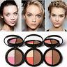 Focallure 3Color Makeup Blush Flushed Blusher Powder Palette Bronzer Highlighter