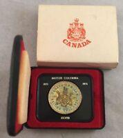 1971 Canada Cased Silver Dollar - British Columbia Commemorative