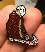 friday the 13th enamel pin Jason Voorhees retro 80s 90s horror machete slasher