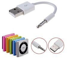 iPod Shuffle Cable 3.5mm Jack/Plug to USB Power Data Sync Charger Cable