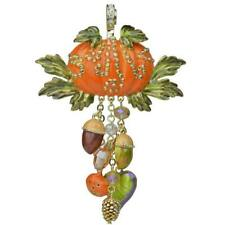 KIRKS FOLLY  AUTUMN FEST PUMPKIN MAGNETIC ENHANCER IN GOLD TONE