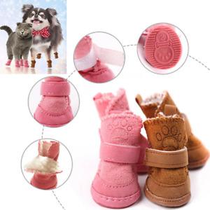 Pet Puppy Dog Winter Warm Shoes 4Pcs/Set Dog Snow Boots Sneakers Pet Supplies