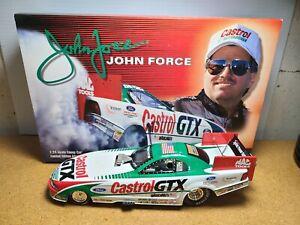 1999 John Force Castrol GTX Ford Mustang 1:24 NHRA Funny Car Die-Cast MIB