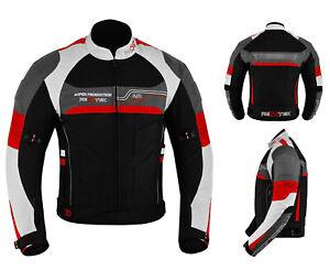 Men Motorbike Racing Waterproof Cordura Textile Jacket Motorcycle Riding Armored
