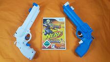 wii NERF-N-STRIKE + 2 NEW Wii GUN Attachments Nintendo PAL UK Version