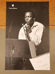 "Vintage Apple Think Different Promo Poster, 11""x17"" Miles Davis"