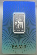 10 gram Silver Bar - Pamp Suisse Religious Faith Series Israel - #000556