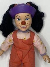 "1997 Playmates Toys Big Comfy Couch Loonette Clown 15"" Plush & Vinyl Doll"