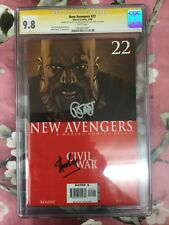 New Avengers #22 CGC 9.8 SS Auto / Signed by Stan Lee & Brian Michael Bendis