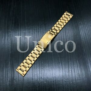 20MM FOR OMEGA SEAMASTER WATCH BAND 2541.80 BRACELET STAINLESS STEEL HEAVY GOLD