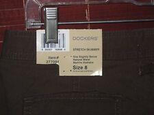 NEW DOCKERS Cargo WOMENS SKIMMER CAPRI PANT 98% cotton, 2% spandex SIZE 8  NWT