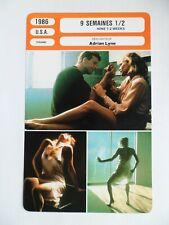 CARTE FICHE CINEMA 1986 9 SEMAINES 1/2 Mickey Rourke Kim Basinger Margaret Whitt