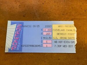 1988 Cleveland Cavaliers v Detroit Pistons Preseason Basketball Ticket Dayton