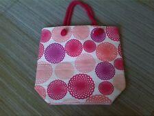 Beach Bag/Shopper/Tote/Holidays/Travel - Pink/Peach Circle Design - NEW