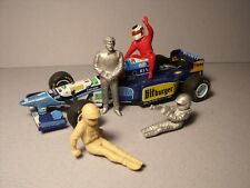 4  FIGURINES  1/43  SET 384  JEAN  ALESI  F1  DRIVERS  VROOM  UNPAINTED  O SCALE