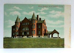 Manchester New Hampshire Elliott Hospital UDB Vintage Postcard