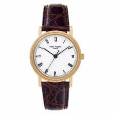 Patek Philippe 3802J Calatrava 18k Yellow Gold Automatic Watch Box/Receipt 3802