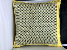 RALPH LAURN Silk Pillow Yellow 20x20 100% Silk Down