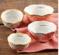 The Pioneer Woman Ceramic Set Of 4 Nesting Measuring Cups
