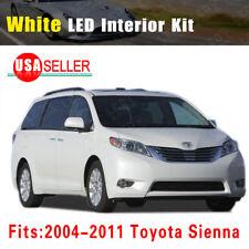 14x White LED Bulb Lights Interior Package Kit Deal For 2004-2011 Toyota Sienna
