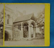 1860s Stereoview Photo Canterbury Cathedral Norman Staircase By J. Stuart