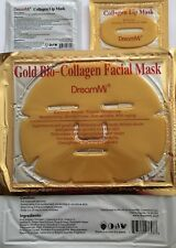 ( 200PCS ) DreamMi 100P Gold Bio Collagen Facial Mask + 100P Lip Mask