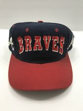 Vintage Atlanta Braves Embroidered Shadow Snapback Hat Cap MLB Official