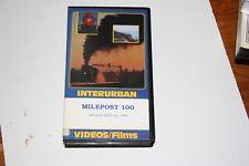 VHS VIDEO  TAPE  TITLED:  SANTA FE MILEPOST 100    SHOWS SLIGHT USE