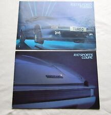 Mazda RX7 Sports Coupe & RX7 Elford Turbo Sales Brochure 1983