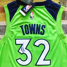 72f183c05 Karl Anthony Towns Signed Autograph Minnesota Timberwolves Jersey NBA PROOF