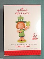 HALLMARK 2014 PEPPERMINT PATTY St. Patty's Day? PEANUTS #8 Monthly ORNAMENT-MIB